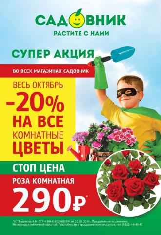 """Акция """"Товар месяца в Садовнике"""" - Октябрь"""