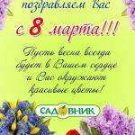 Поздравляем с 8 марта !!!